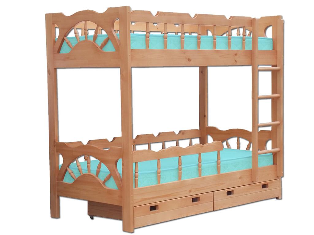 Кровать для двоих детей классика