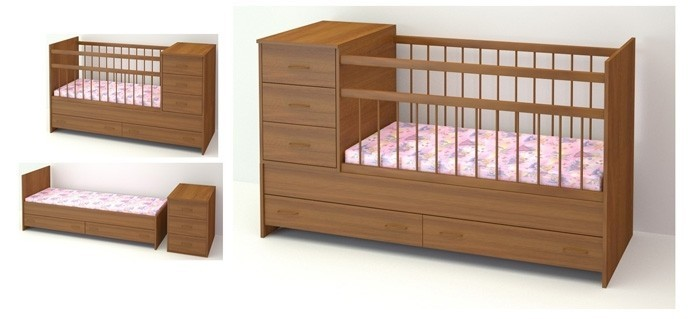 Кровать для новорожденного из МДФ