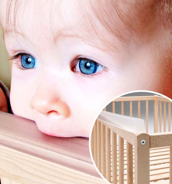 Кровать для новорожденных с силиконовыми накладками