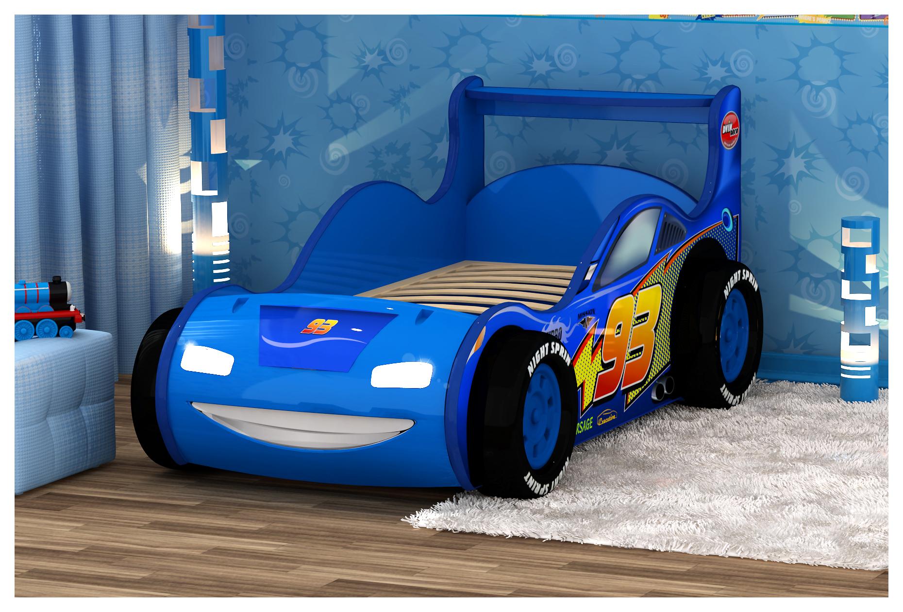 Кровать машина молния маквин 3D