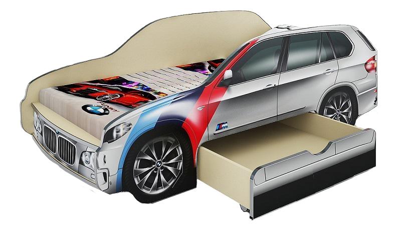 Кровать машина с выдвижным ящиком