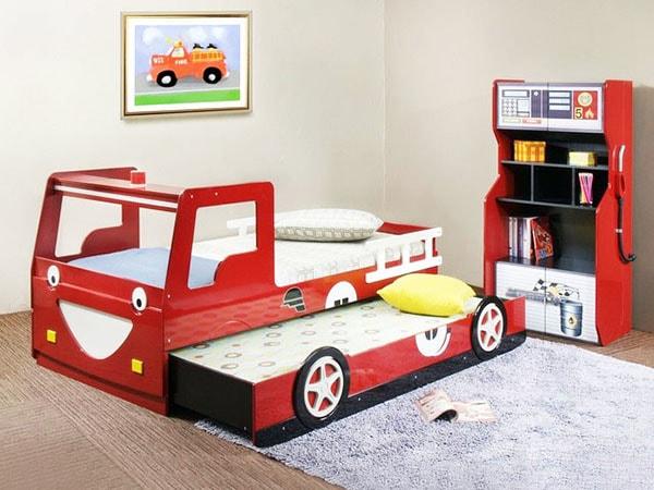 Кровать машинка и шкаф в наборе