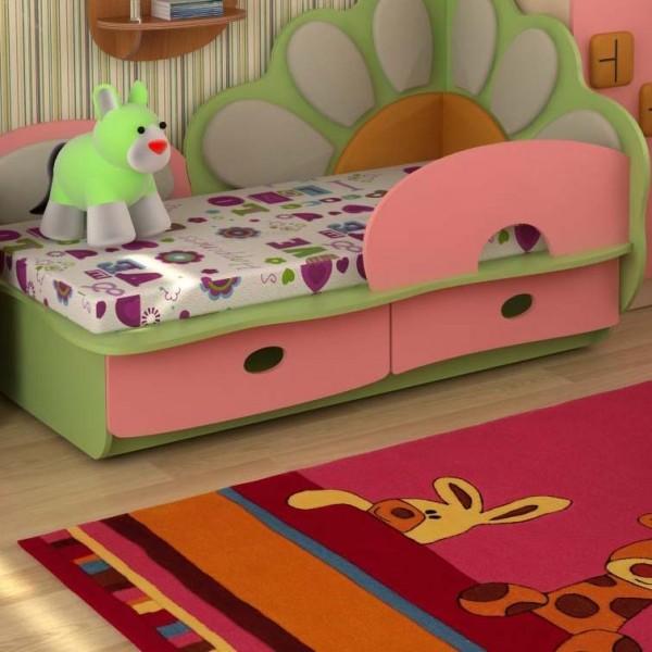 Кровать от 3 лет из ДСП с бортиками