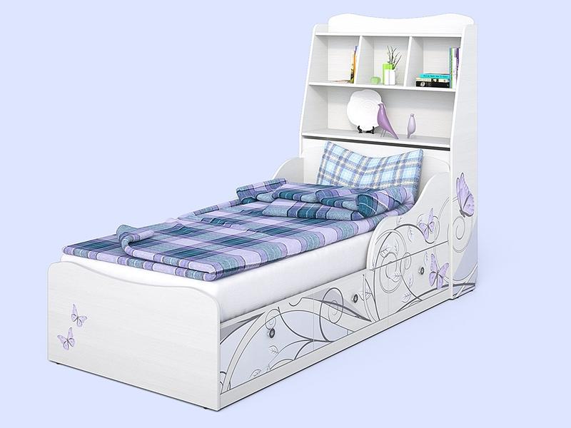 Кровать от 3 лет с полками