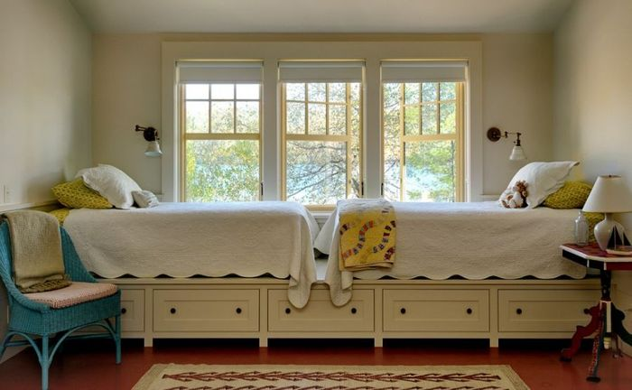 Кровать подиум для двух детей