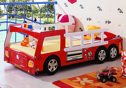 Кровать пожарная машина для малыша