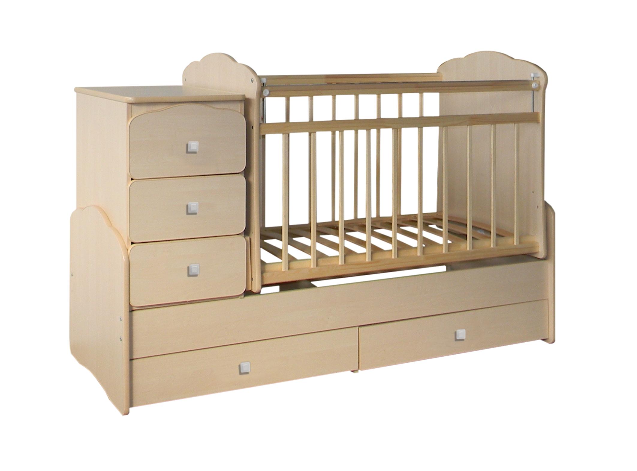 Кровать с комодом для новорожденных