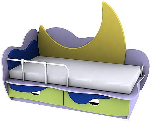 Кровать с металлическим бортиком