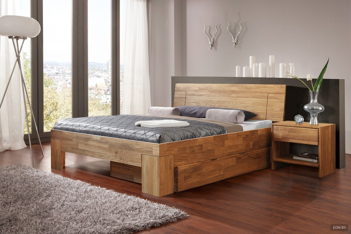 Кровать с ящиком без направляющих