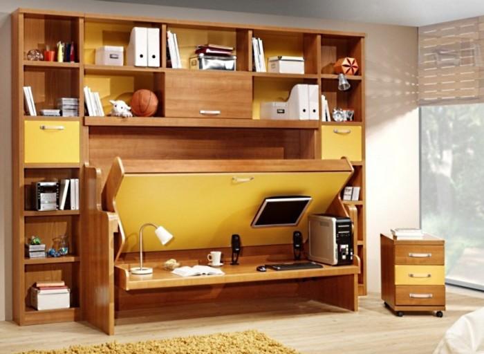 Кровать трансформер 3 в 1 для комнаты подростка