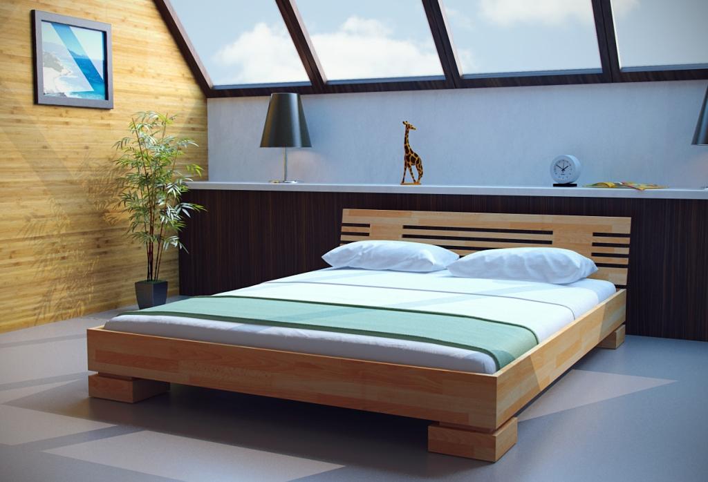 фото двуспальной кровати из дерева