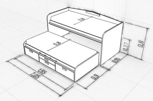 Кровать выдвижного типа