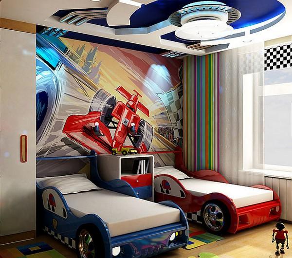 Кровати машины для двух мальчиков