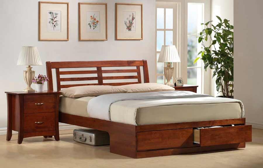 Кровати с выдвижными ящиками - подчеркните современный интерьер