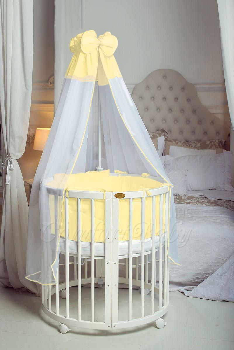Круглая кровать для новорожденных