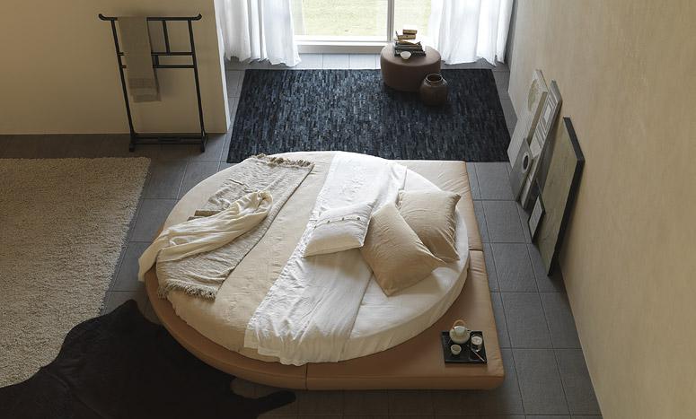 Круглая кровать подиум