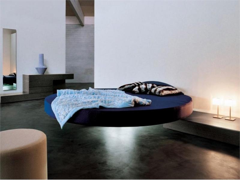 Круглая парящая кровать