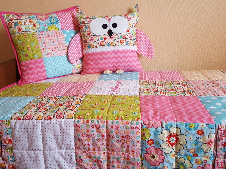Лоскутное покрывало для кровати