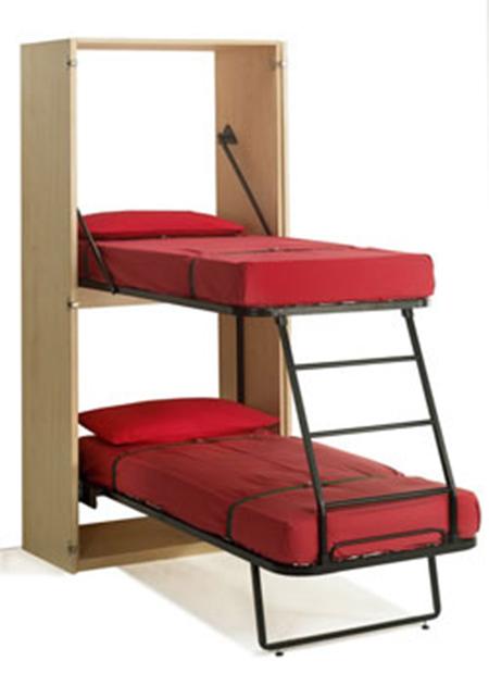 Металлическая шкаф кровать