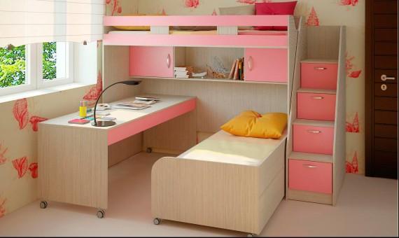 Модульная детская двухъярусная кровать