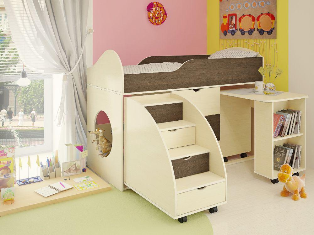 Модульная кровать чердак