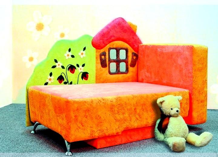 Небольшой диван кровать с бортиками