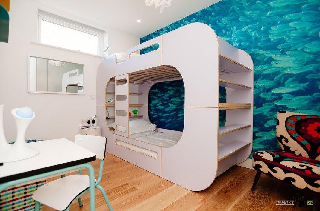 Необычная идея двухъярусной кровати