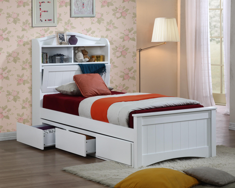 Односпальная кровать с местом для хранения