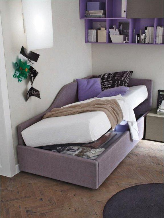 Односпальная кровать с подъемным механизмом для подростка