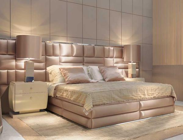 Оформление изголовья кровати в спальне