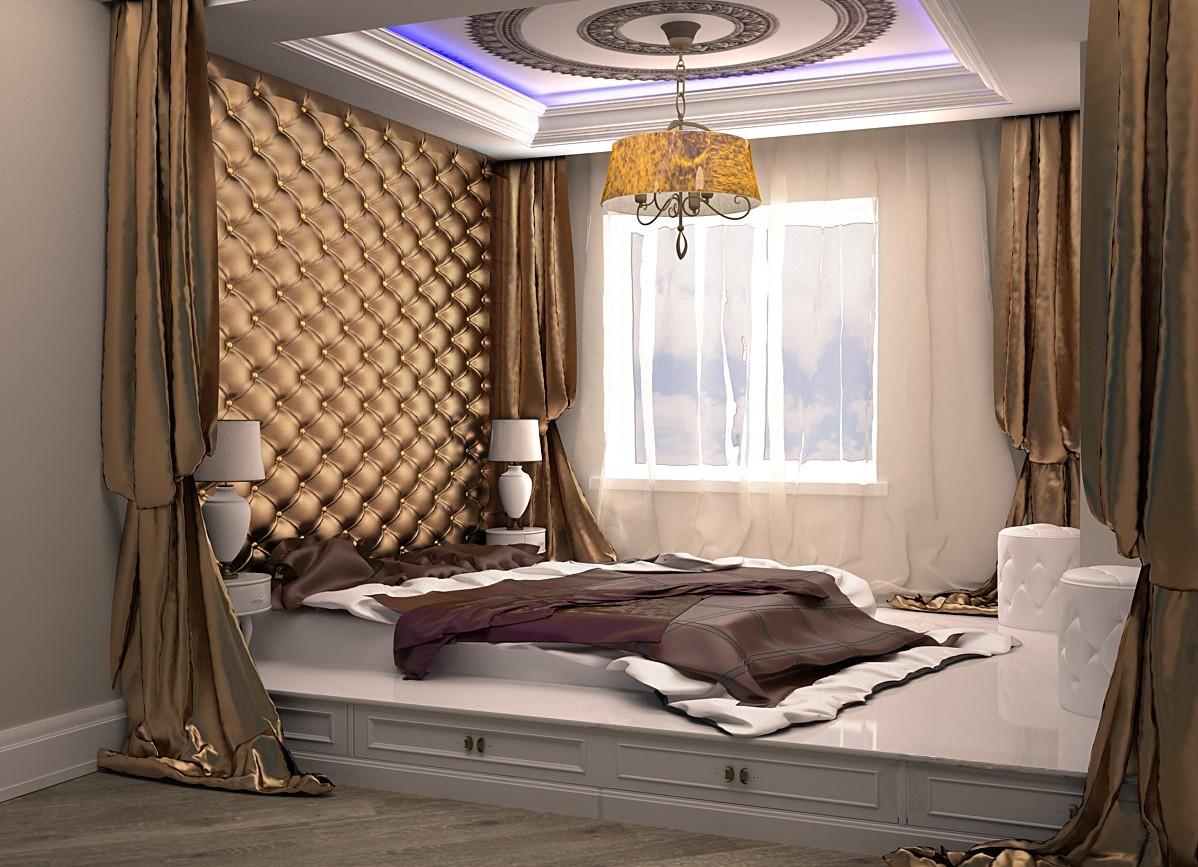 Огромная кровать подиум