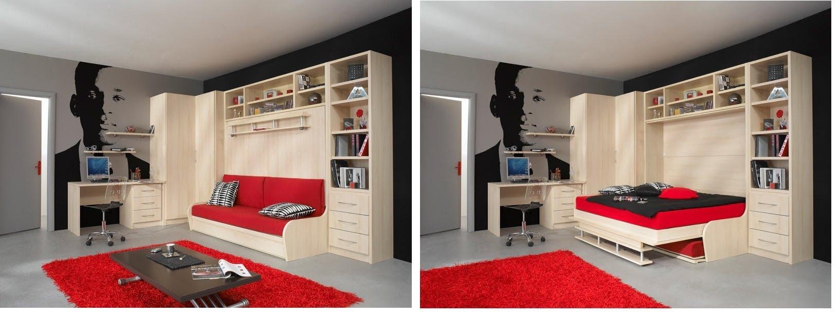 Откидной диван, превращающийся в шкаф