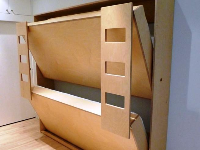 Откидные двухъярусные кровати