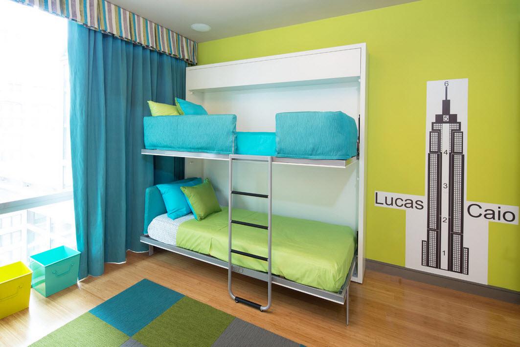 Откидные двухярусные кровати