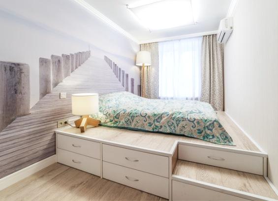 Открытая кровать подиум