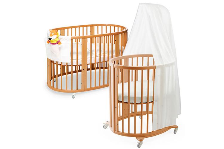 Овальная кроватка трансформер