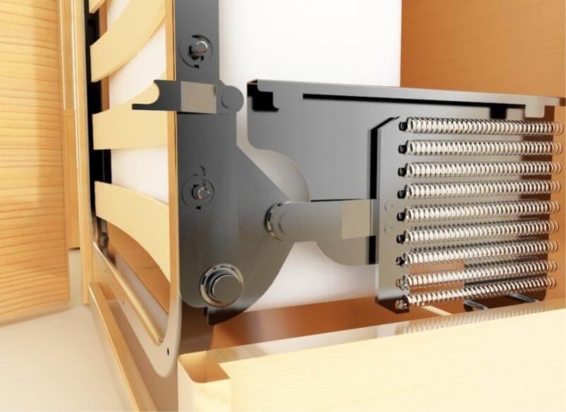 Пружинный механизм для откидной кровати