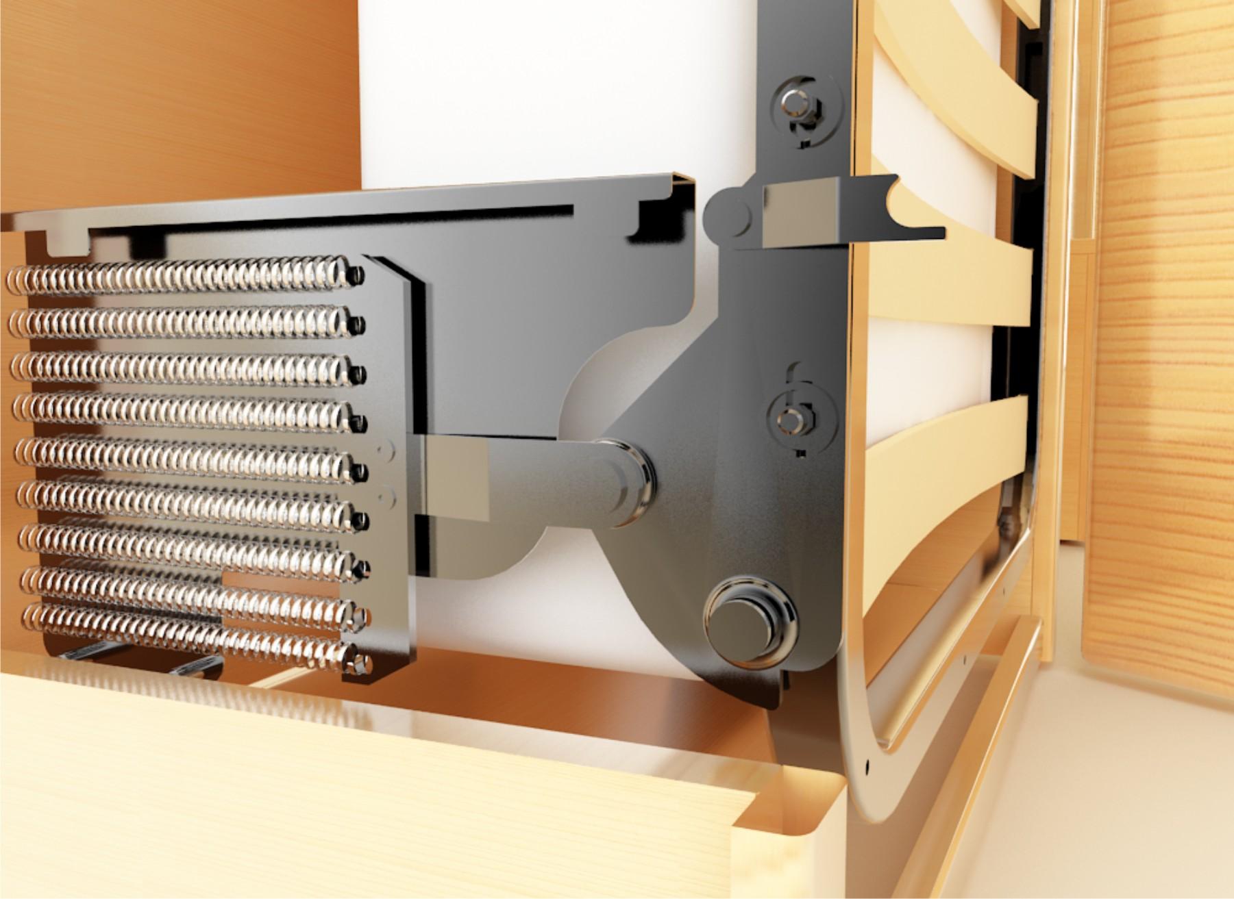 Пружинный механизм подъема для кровати