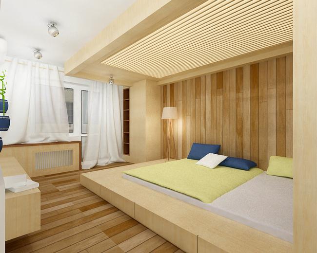 Прямоугольная кровать подиум