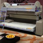 Основные преимущества диванов трансформеров в двухъярусную кровать