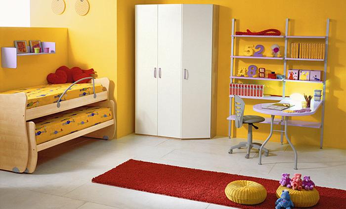 Расположение кроватей в детской для двоих детей