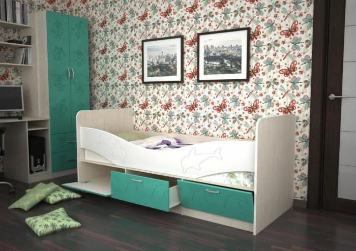 Расположение кровати в детской комнате