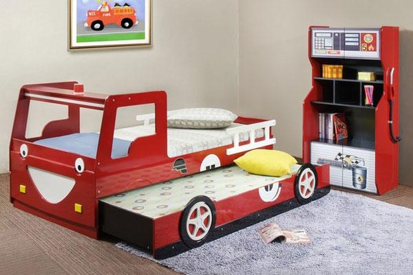 Раздвижная детская кровать машинка