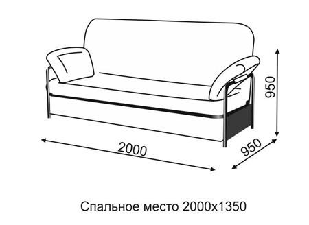 Размер дивана кровати