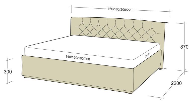 Какой размер матраса на двуспальную кровать