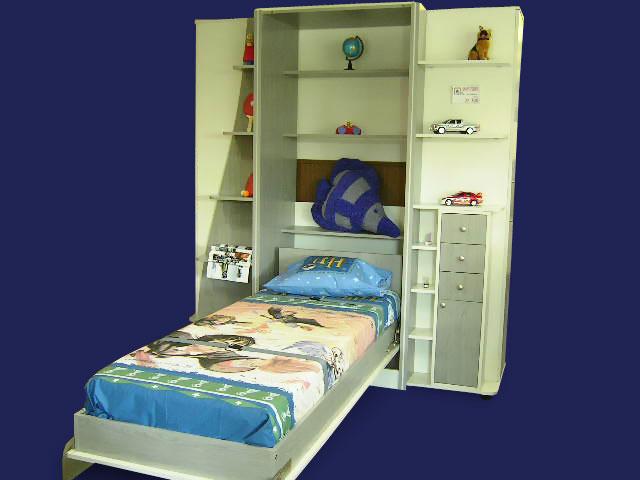 Шкаф кровать детская