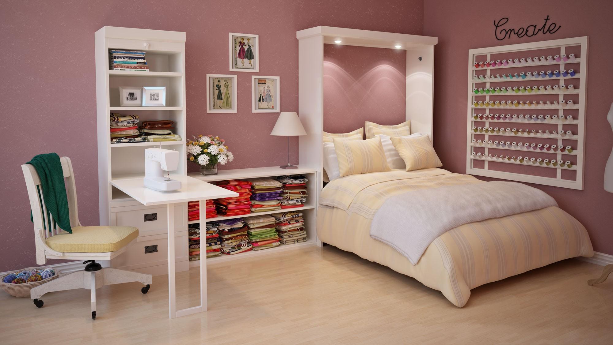Шкаф кровать для комнаты девочки