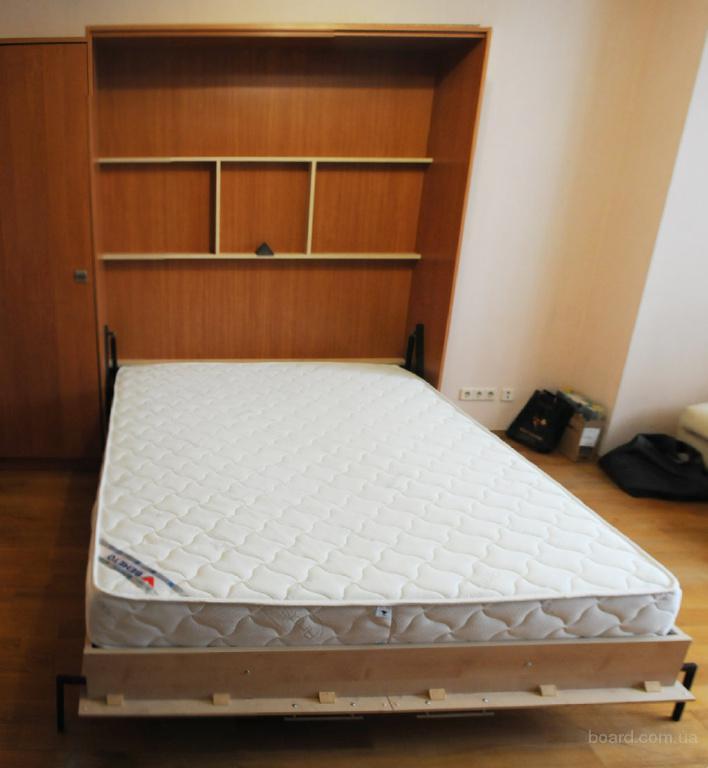 Шкаф кровать двуспальная, откидная с подъёмным механизмом