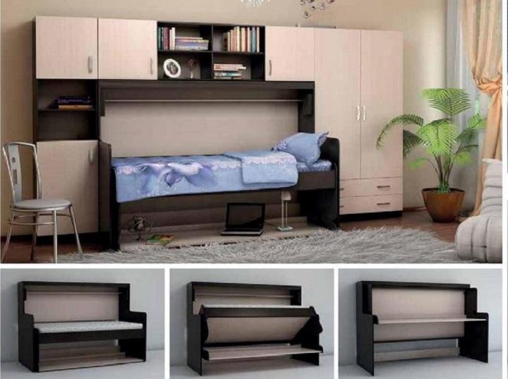 Шкаф кровать стол трансформер три в одном