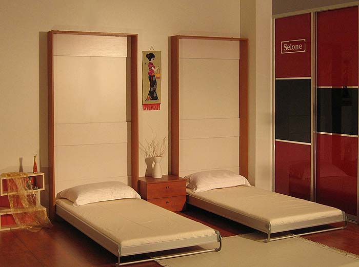 Шкафы кровати в интерьере